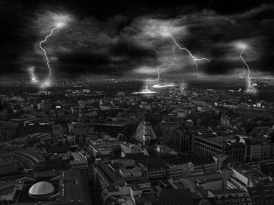 Gewitter über Leipzig
