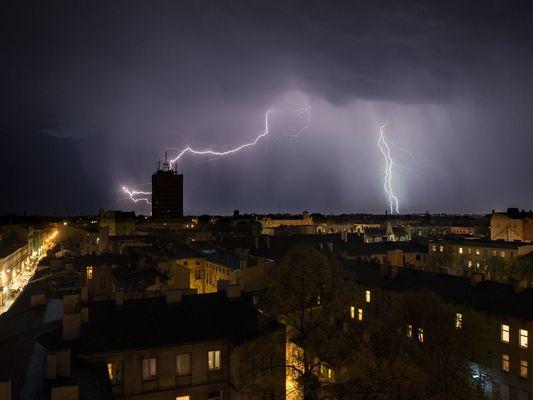 Gewitter über Lodz