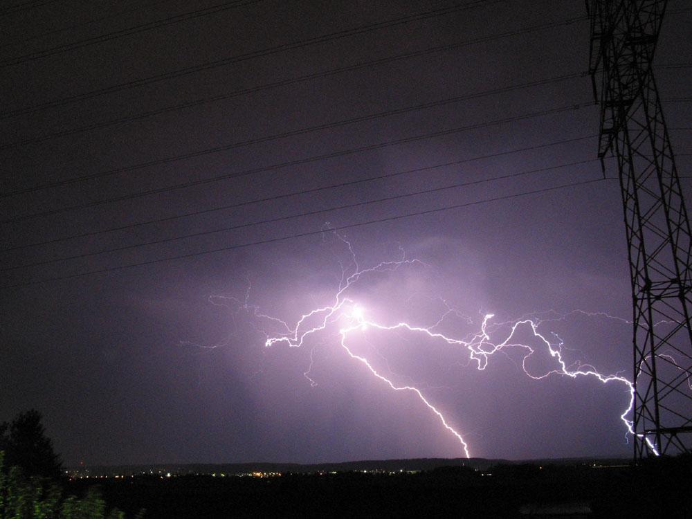 Gewitter über Maichingen