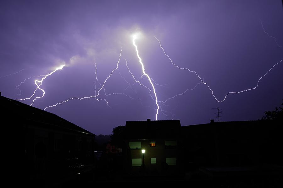 Gewitter über Straelen