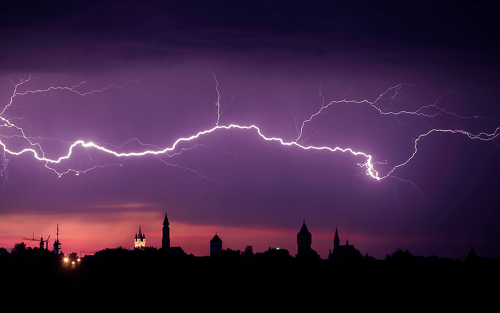 Gewitter über Straubing