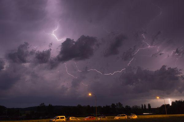Gewitter über Süddeutschland