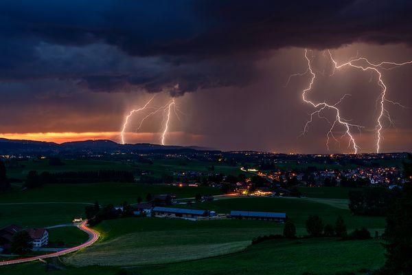 Gewitter über Sulzberg