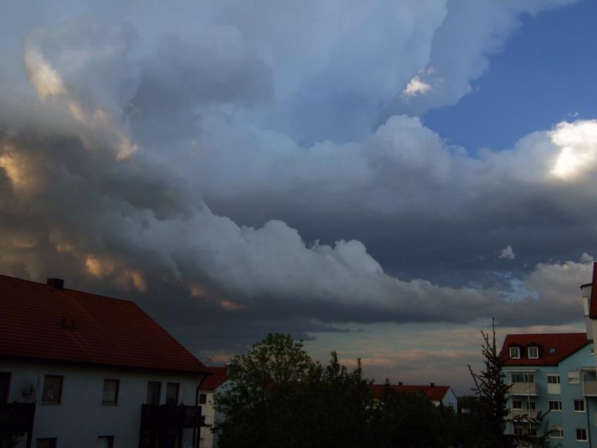 Gewitter vor Sonnenuntergang