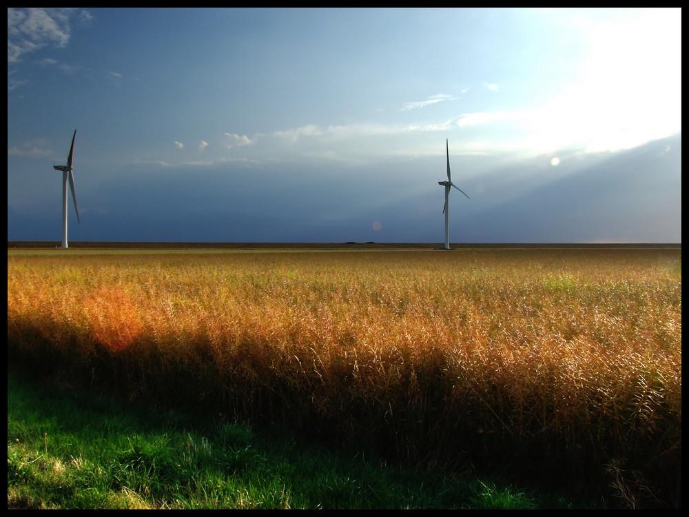 Gewitterfront in Nordfriesland