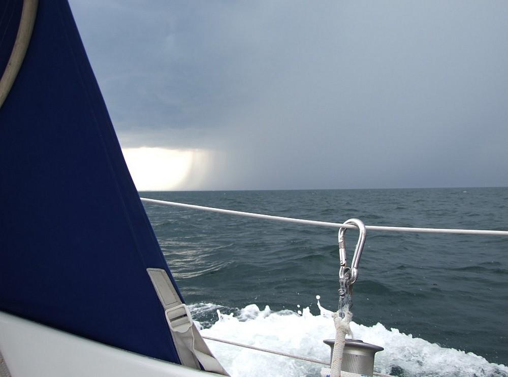 Gewitterfront über der Ostsee