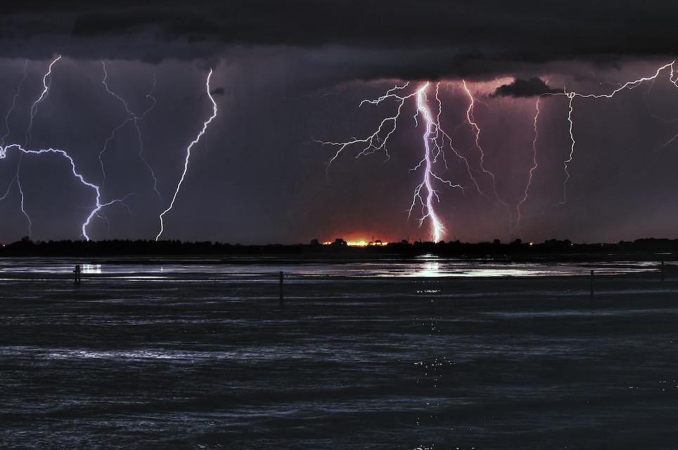 Gewitterfront übert der Adria