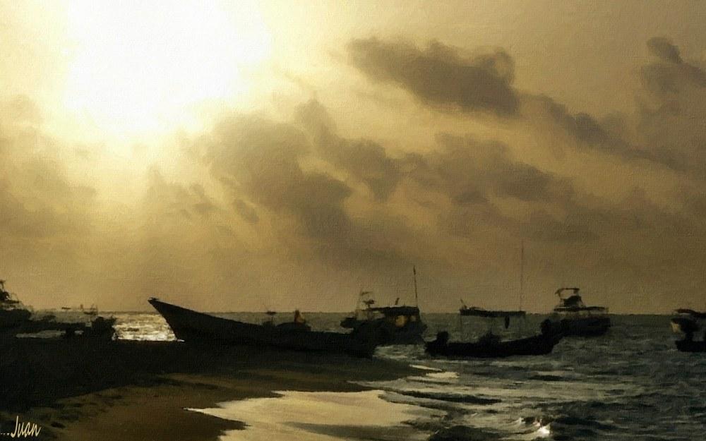 Gewittermorgen an der Playa