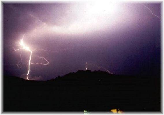 Gewitternacht über meiner Heimatstadt