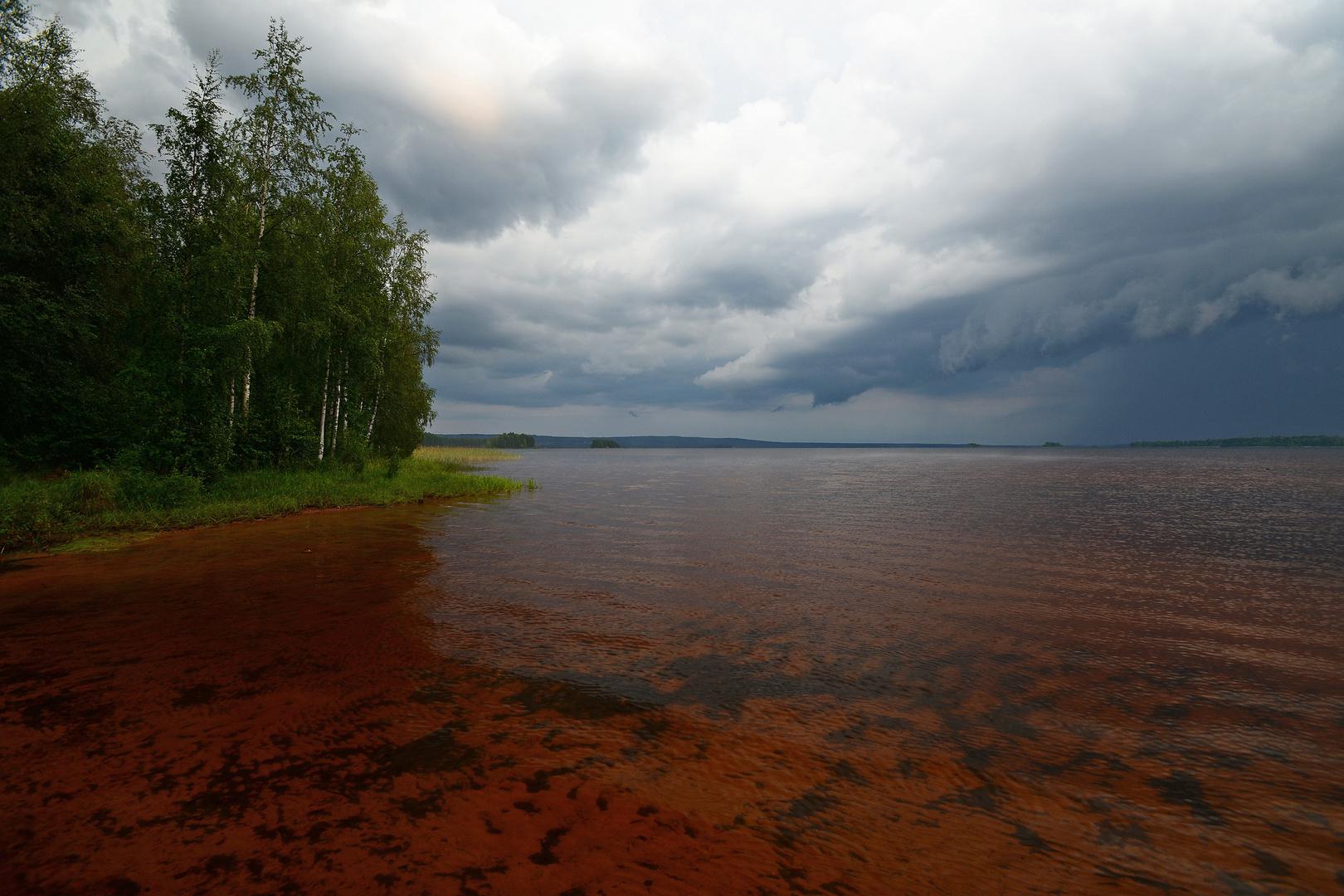 Gewitterstimmung am Siljian. Schweden.