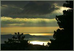 Gewitterstimmung an der kroatischen Küste