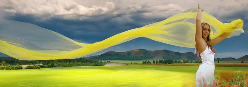 Gewitterstimmung in grün-gelb-weiß 1