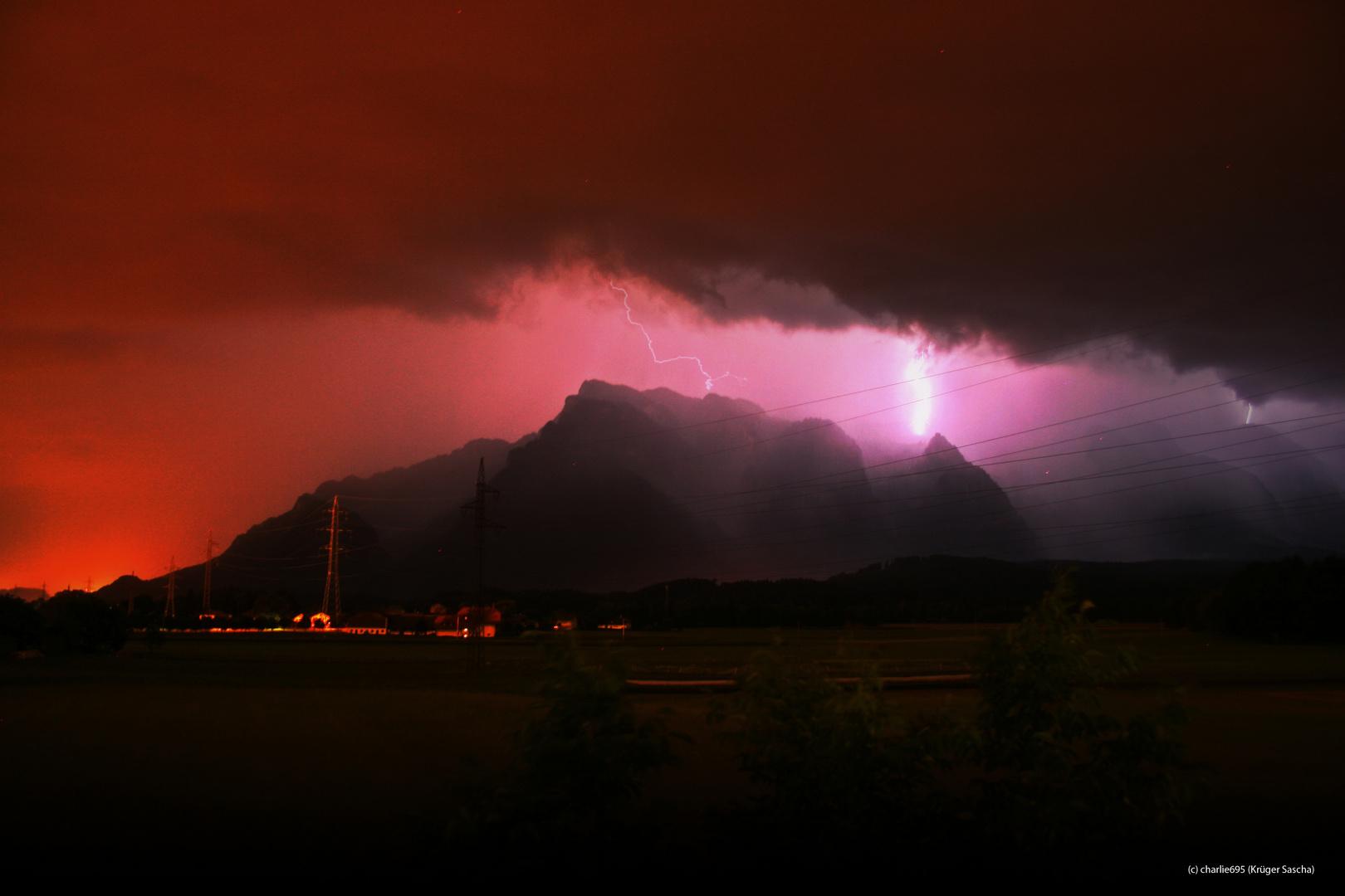 Gewitterstimmung rund um den Untersberg