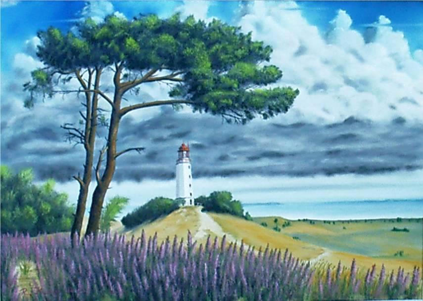 Gewitterstimmung über dem Leuchtturm Dornbusch (Hiddensee - Ostsee)
