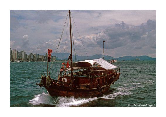 Gewitterstimmung über Hong Kong