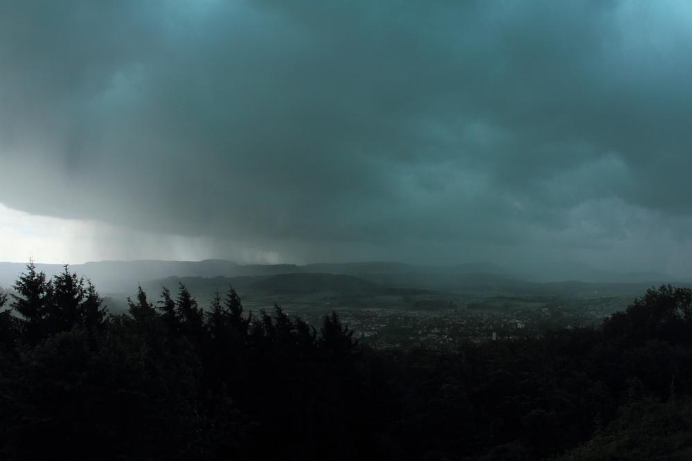 Gewittersturm vom 22.06.2011 -  Burg Staufeneck