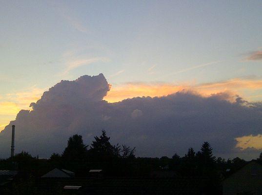 Gewitterwolke kommt heran