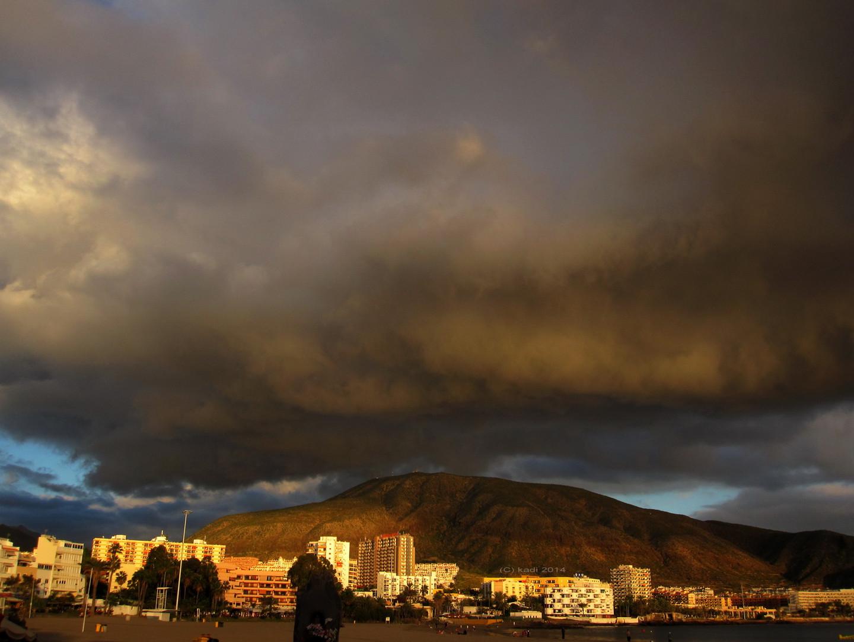 Gewitterwolke naht auf Teneriffa