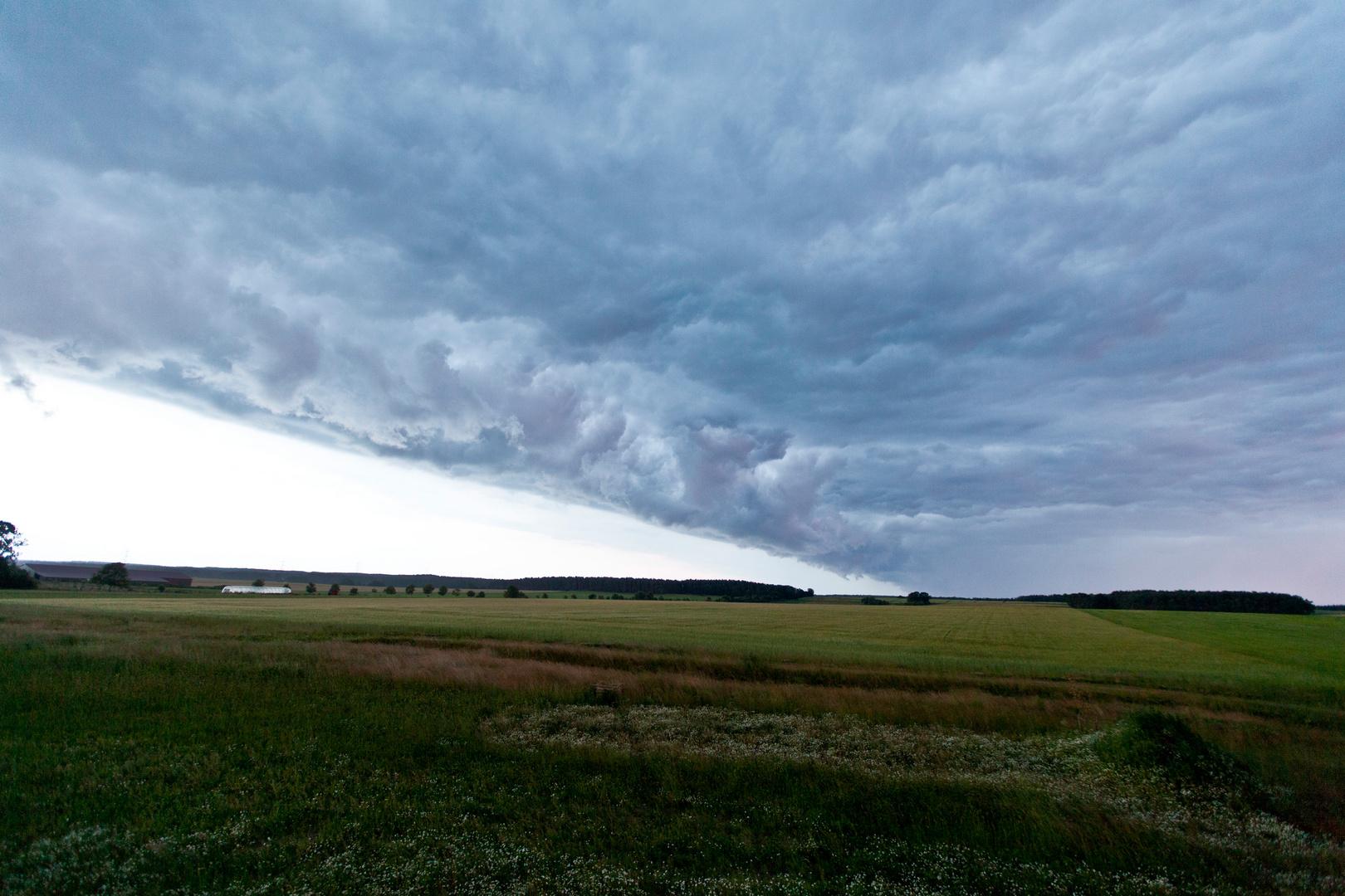 Gewitterwolken bei Hamburg