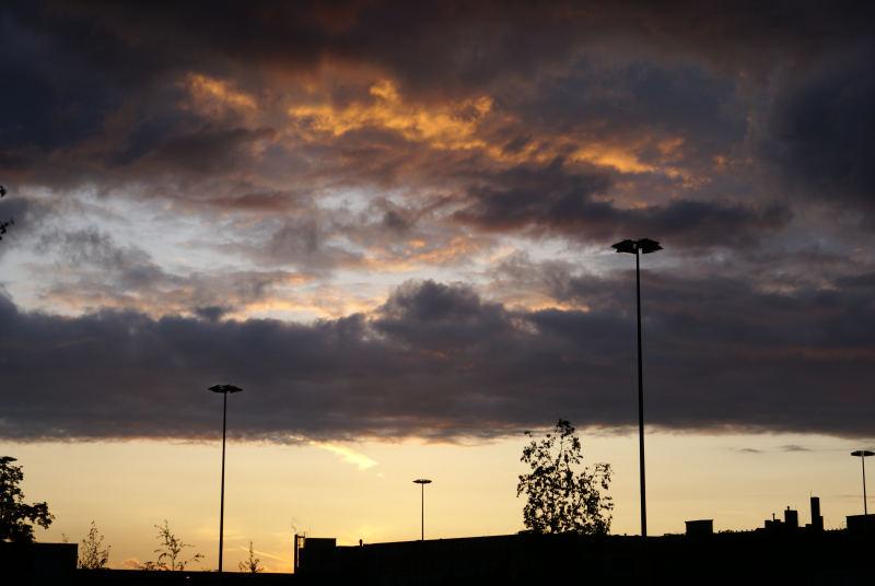 Gewitterwolken im Abzug