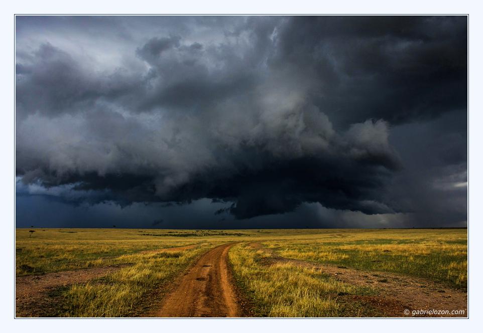 Gewitterwolken über Massai Mara