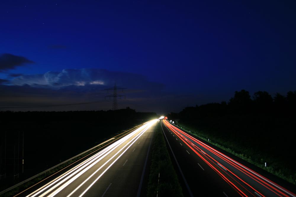 Gewittrige Autobahn