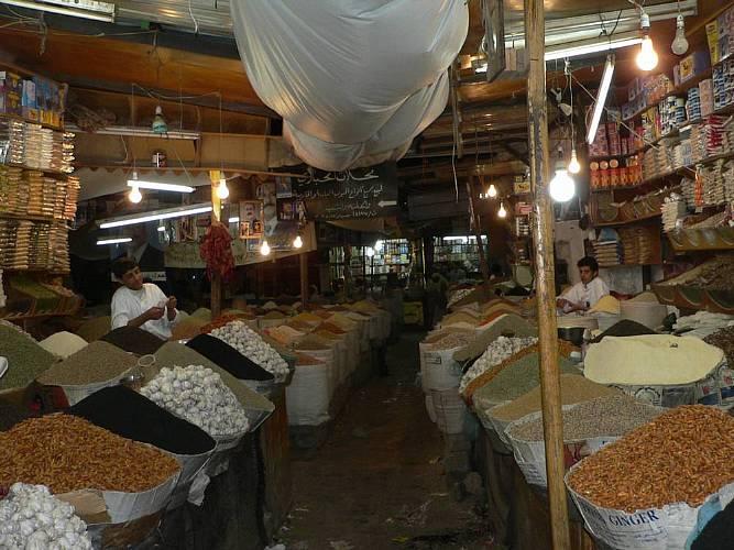 Gewürzhandel auf dem Zuk in Sanaa