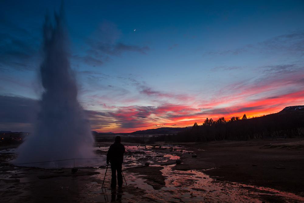 Geysir - Sunset