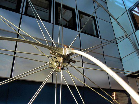 Giant bicycle wheel