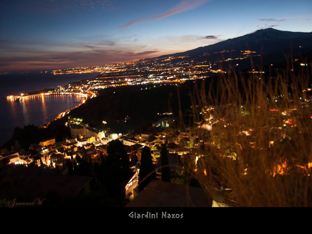 Giardini Naxos night Sizilien 25.12.12