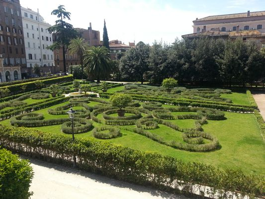 giardino di palazzo Barberini
