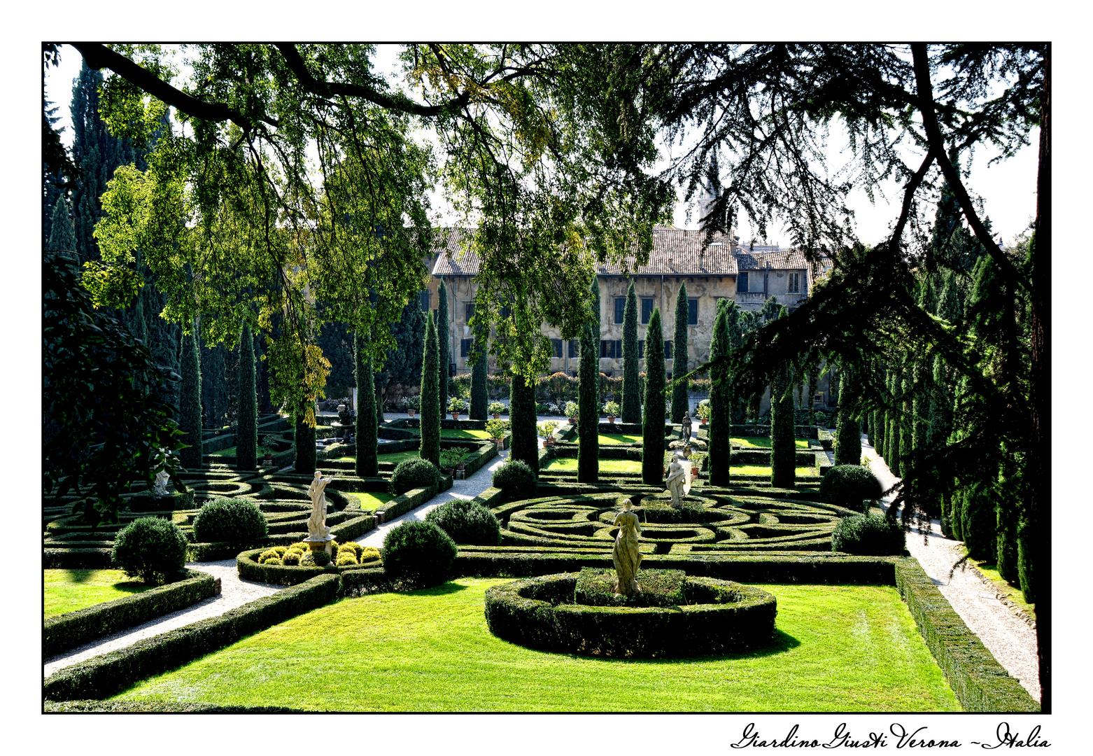 giardino giusti renaissancegarten verona italien