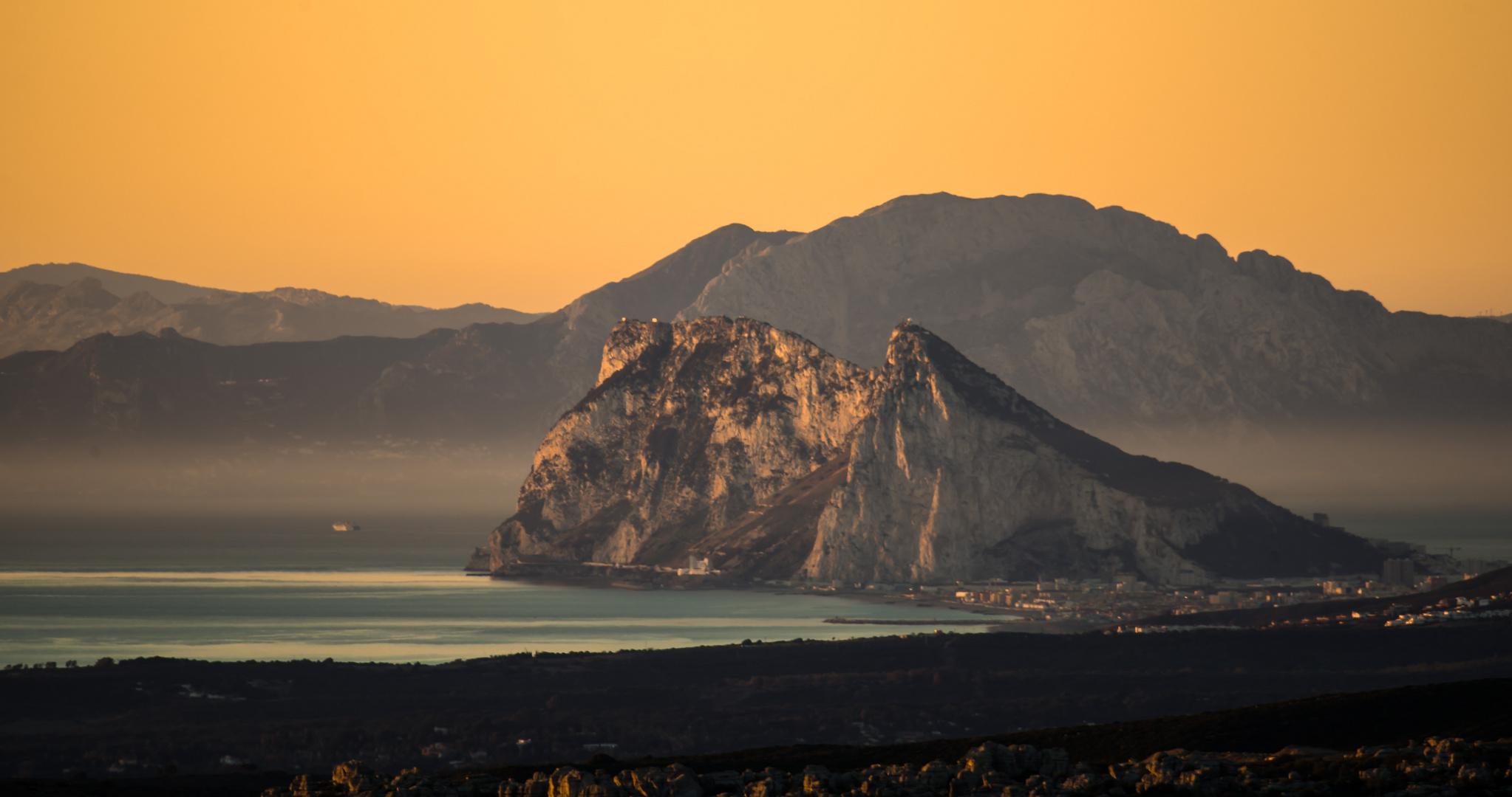 Gibraltar im Morgenlicht