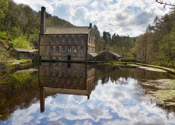 Gibson Mill in Hardcastle Crags nature park, Hebden Bridge,