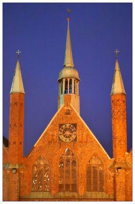Giebel des Heiligen-Geist-Hospital in Lübeck