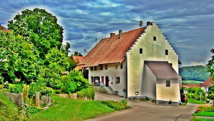 Giebelfassade in Krenkingen Südschwarzwald