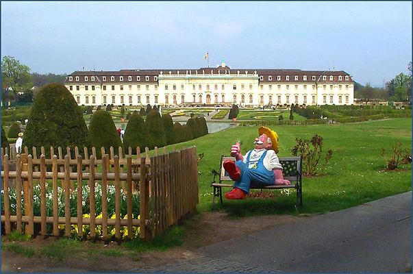 Gießbert... vorm Schloss Ludwigsburg