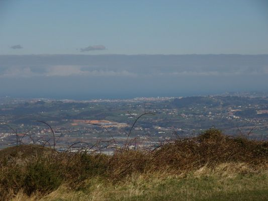 Gijón desde Oviedo, Monte Naranco.