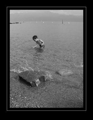 Gilles und der Lac Leman