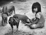 Giochi di bimba Cambogiana