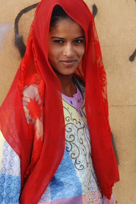 Giovane ragazza egiziana