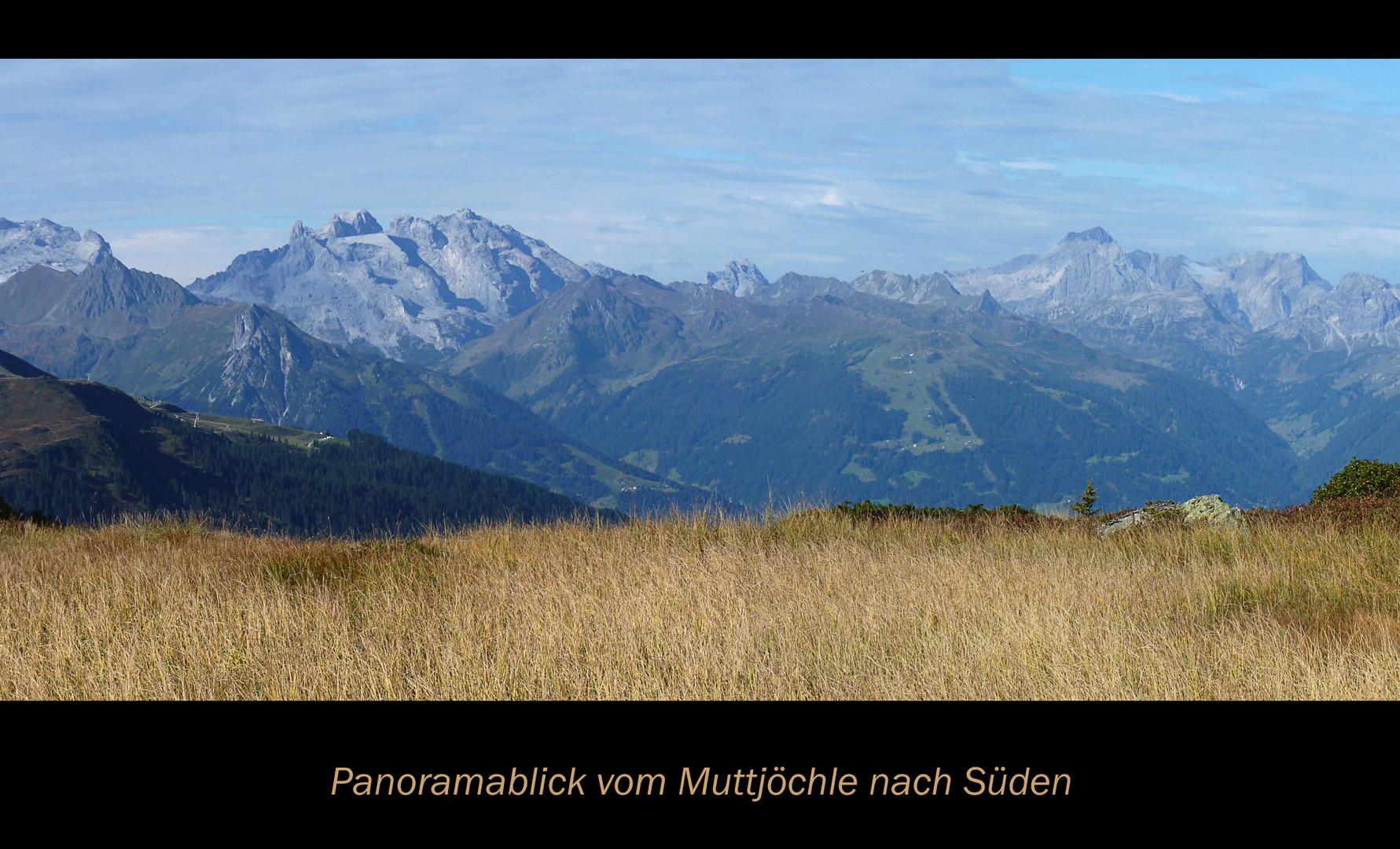 Gipfelblick vom Muttjöchle