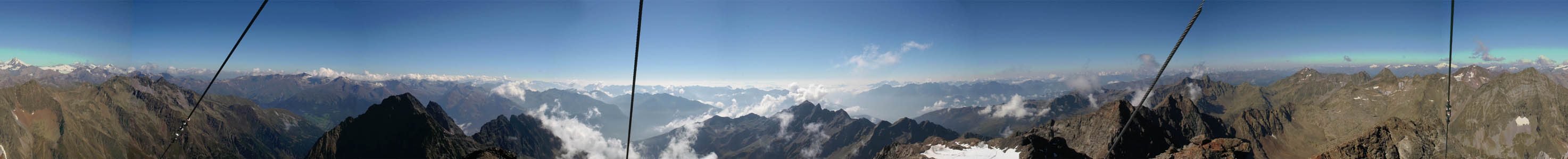 Gipfelpanorama Petzeck
