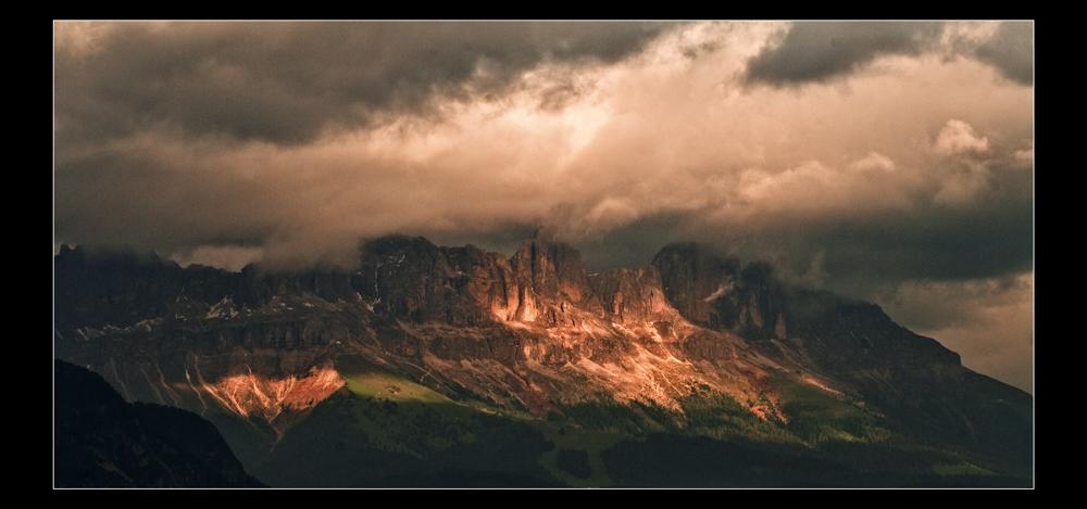 Gipfelpanorama  vom Ritten aus - aber ich weiß nicht mehr welches ...