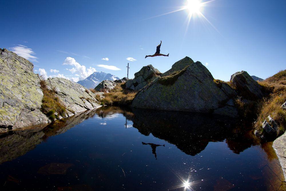 Gipfelsprung von Max Koch