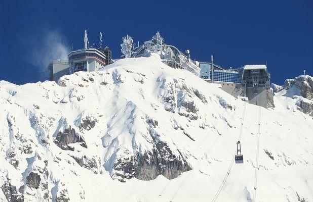 Gipfelstation auf der Zugspitze