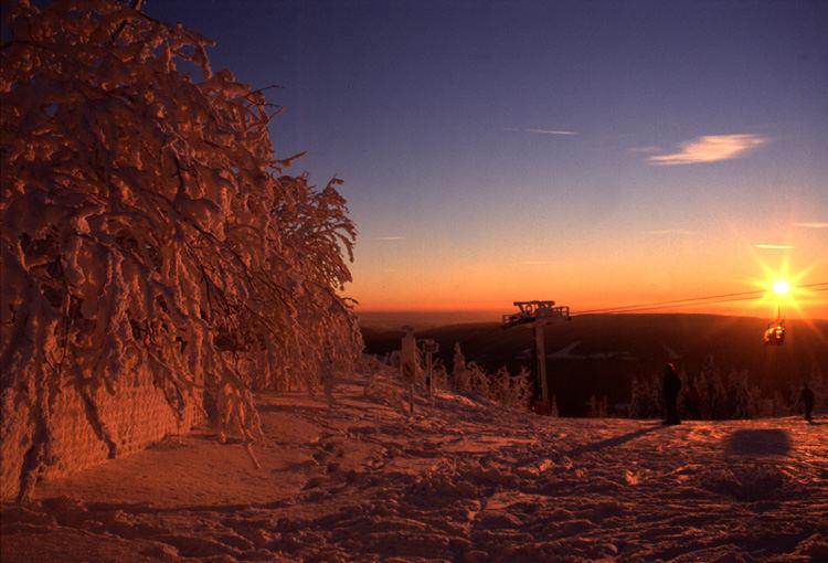 Gipfelstation Süd des Ochsenkopfes im Fichtelgebirge