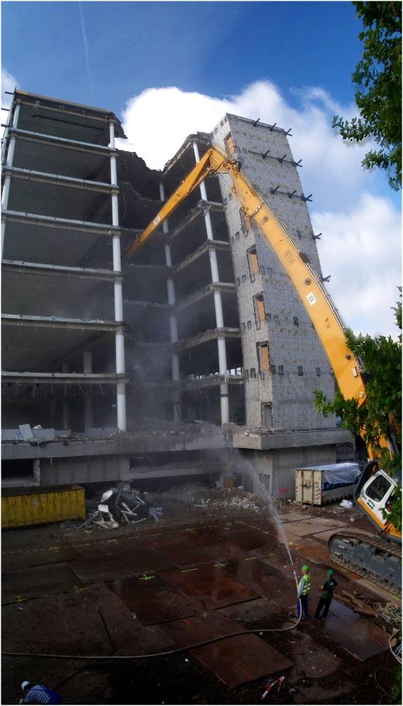 Giraffe knabbert am Beton (reload)