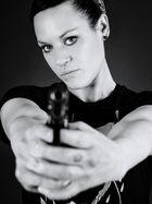 girl and gun