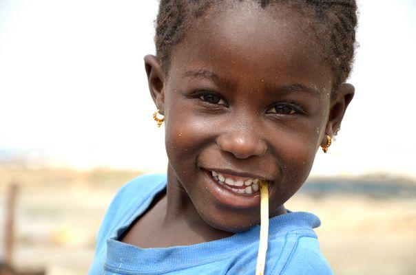 Girl at Lac Rose, Senegal
